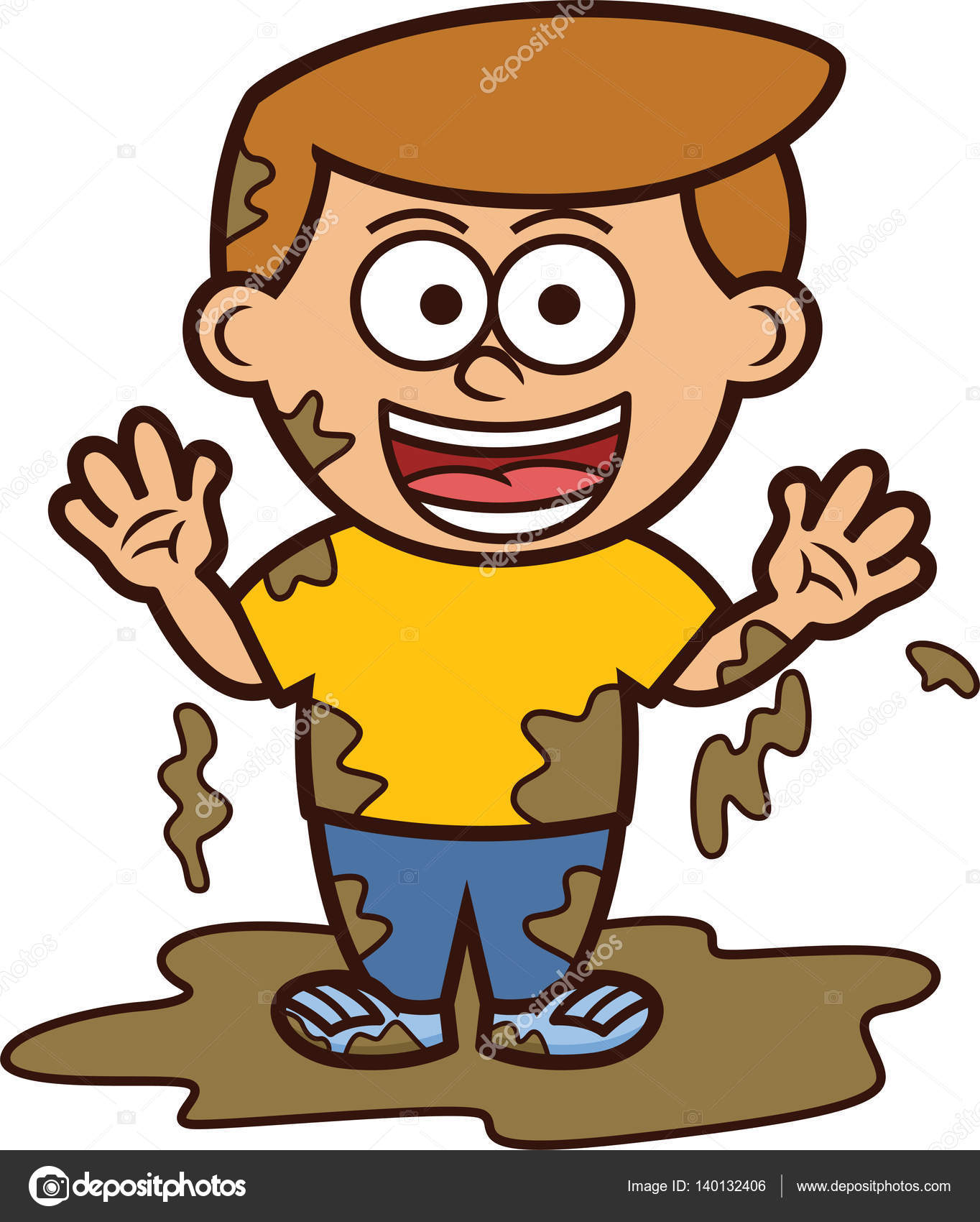 1364x1700 Little Boy Clipart Mud