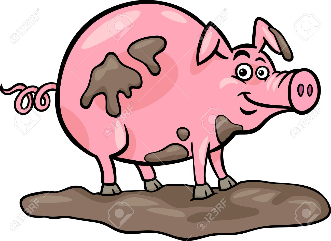 1300x944 Mud Clipart Farm Pig