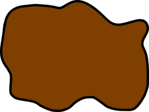 299x225 Brown Mud Puddle Clip Art