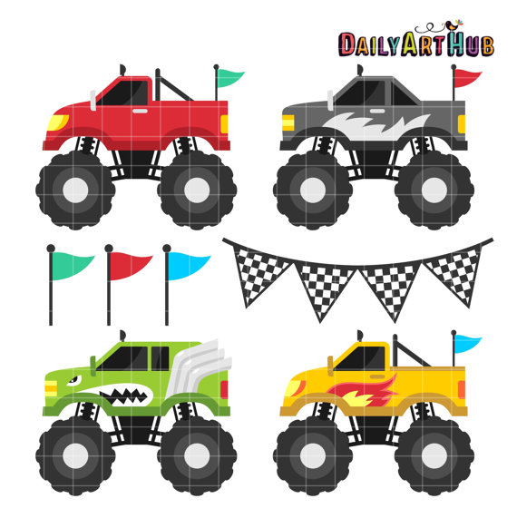 570x571 Monster Truck Clip Art, Four Wheel Drive Clipart, Cool Transport