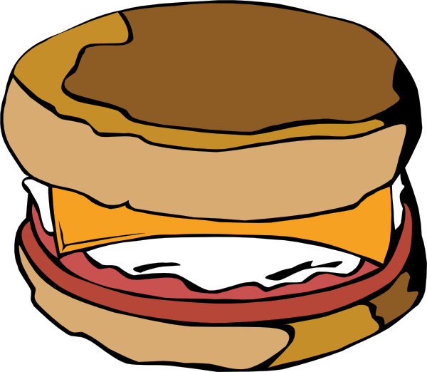 600x522 Egg On Muffin Clip Art Free Vector 4vector