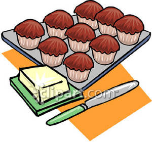 300x281 Muffin Plate Clipart