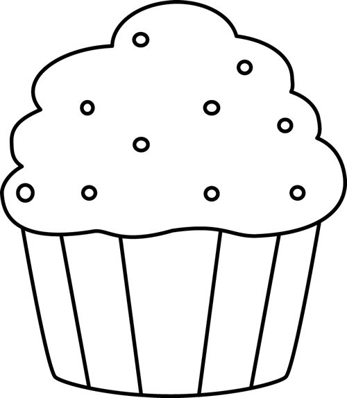 500x573 Blueberry Muffin Clipart Black And White