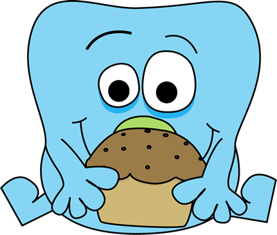 400x340 Monster With A Muffin Clip Art