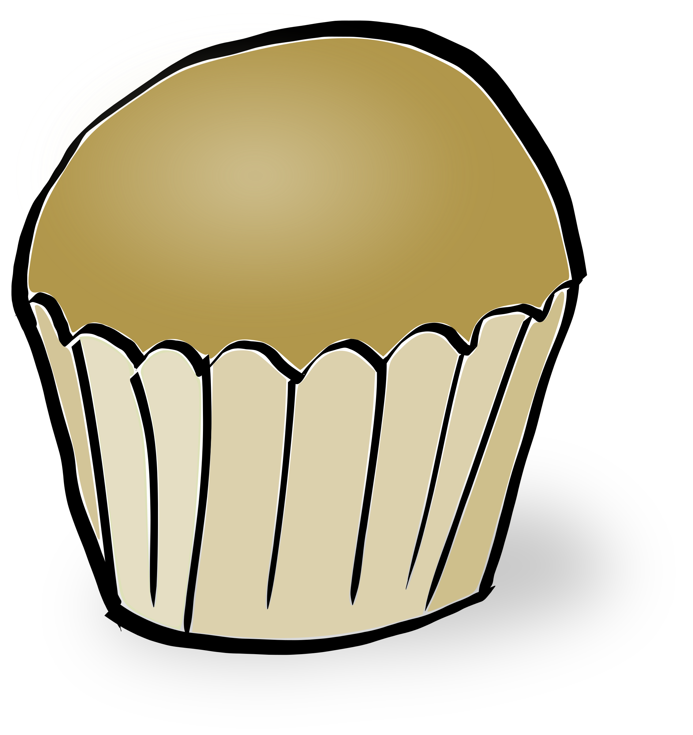 2264x2400 Blueberry Muffin Clipart Five