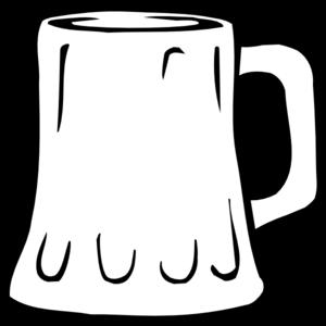 Mug Clipart Black And White