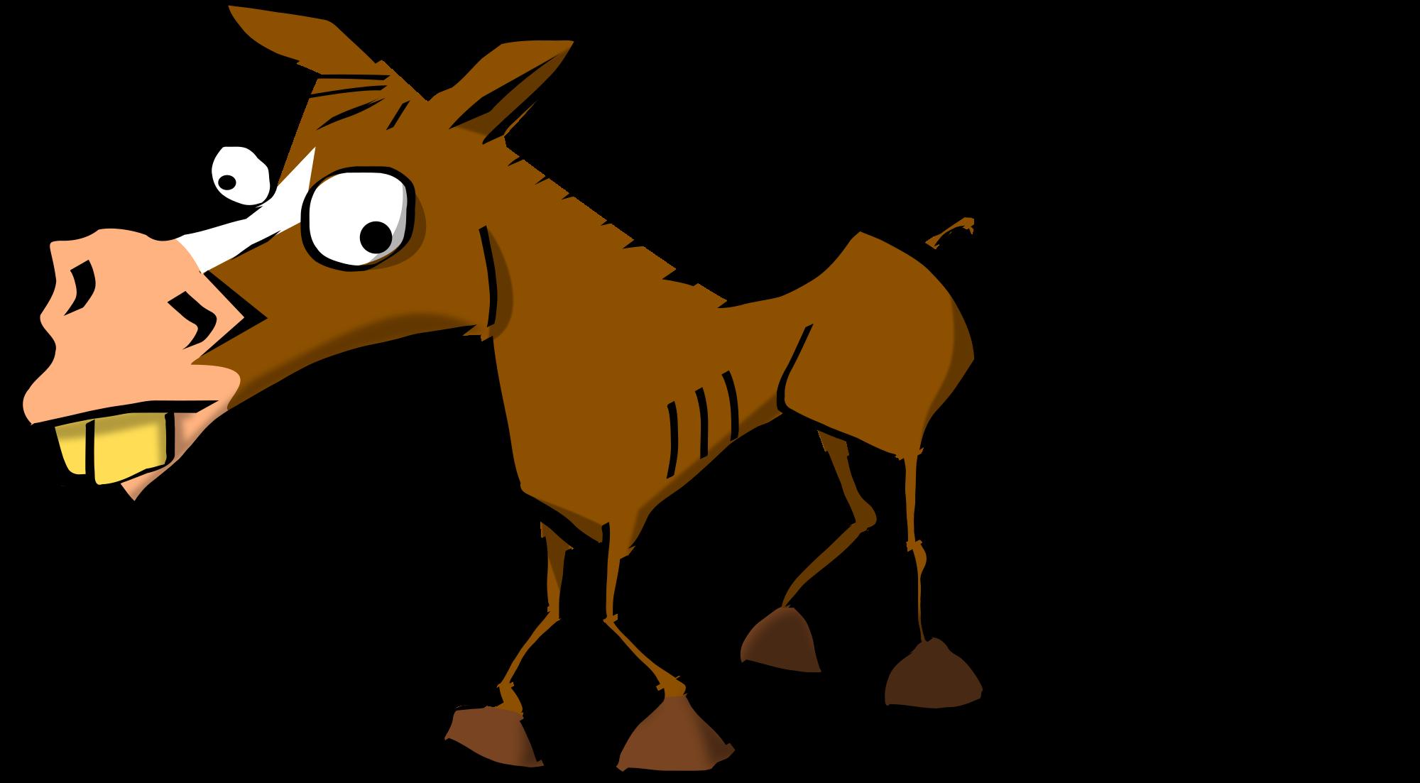 2000x1103 Mule Clipart Cute Horse