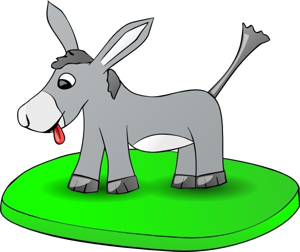 600x503 Donkey On A Plate Clip Art Free Vector In Open Office Drawing Svg