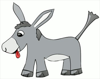 350x274 Simple Clipart Donkey