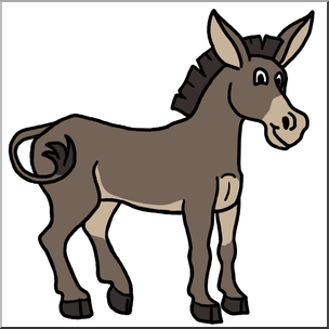 304x304 Clip Art Cartoon Mule Color I Abcteach