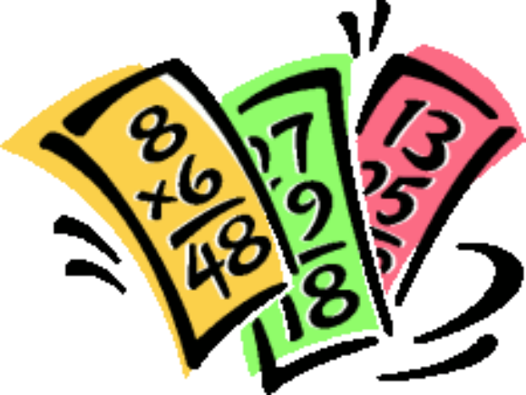 580x436 Multiplication Math Flash Cards Clip Art