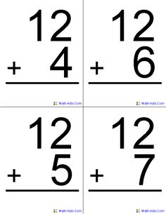 236x305 Free Printable Arithmetic Flashcards Free Printable, Math