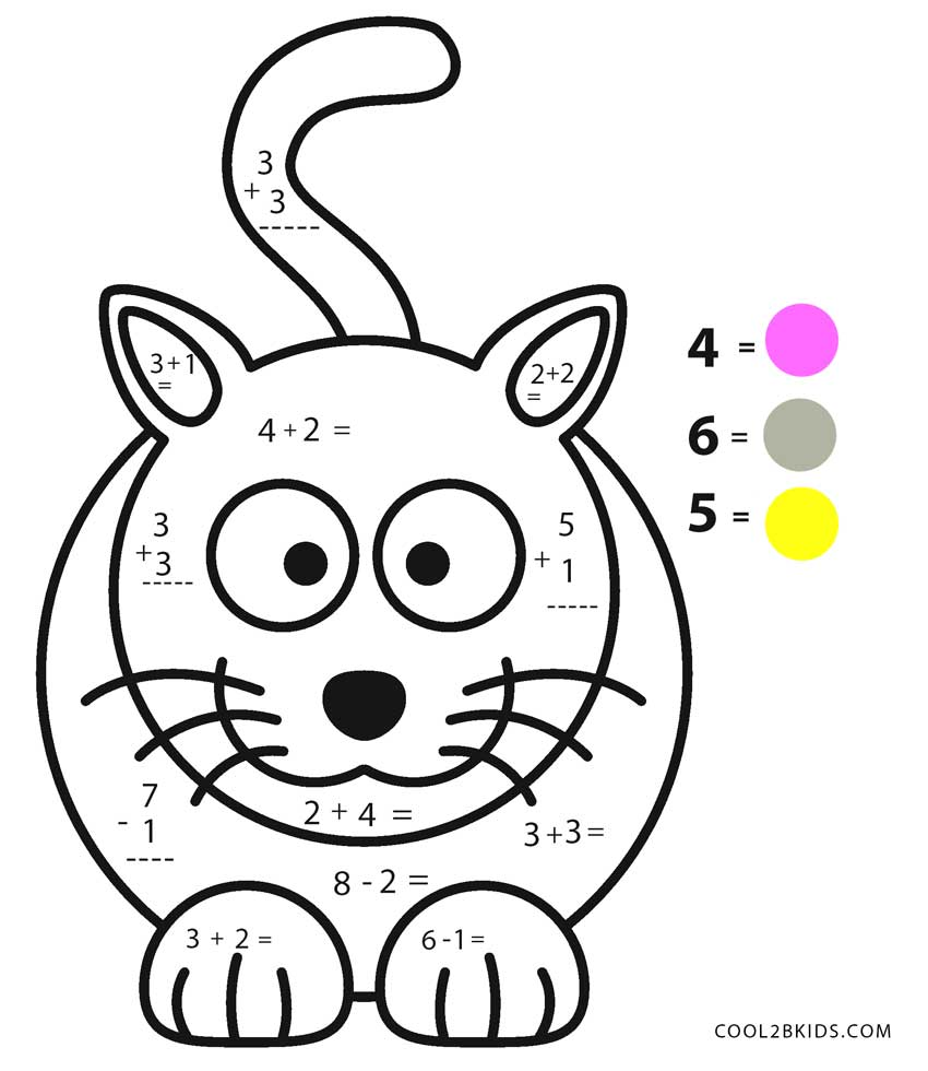 Multiplication Coloring Pages 4th Grade on Kindergarten Math Worksheets With Animals