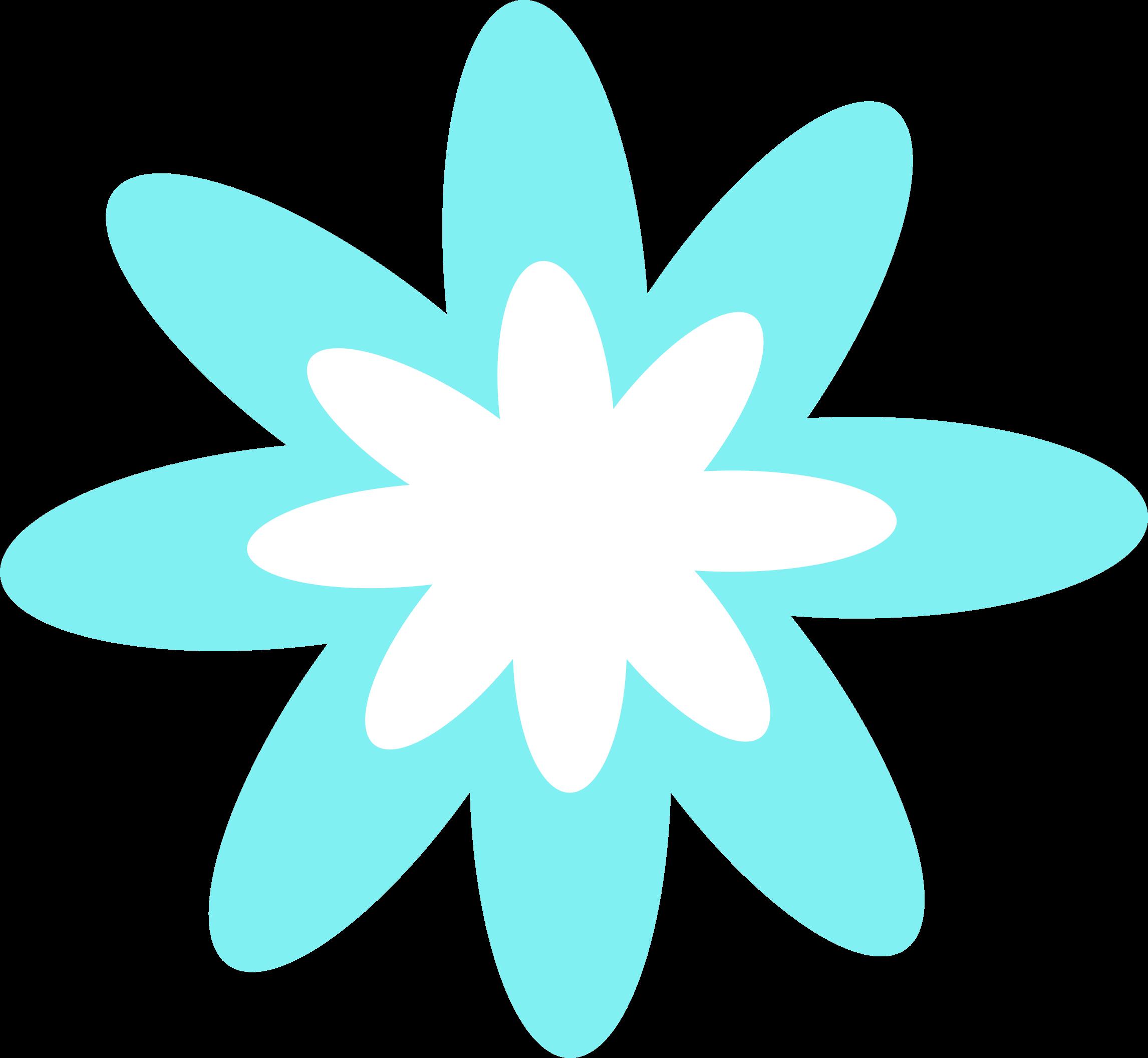 2292x2112 Teal Clipart Flower Burst