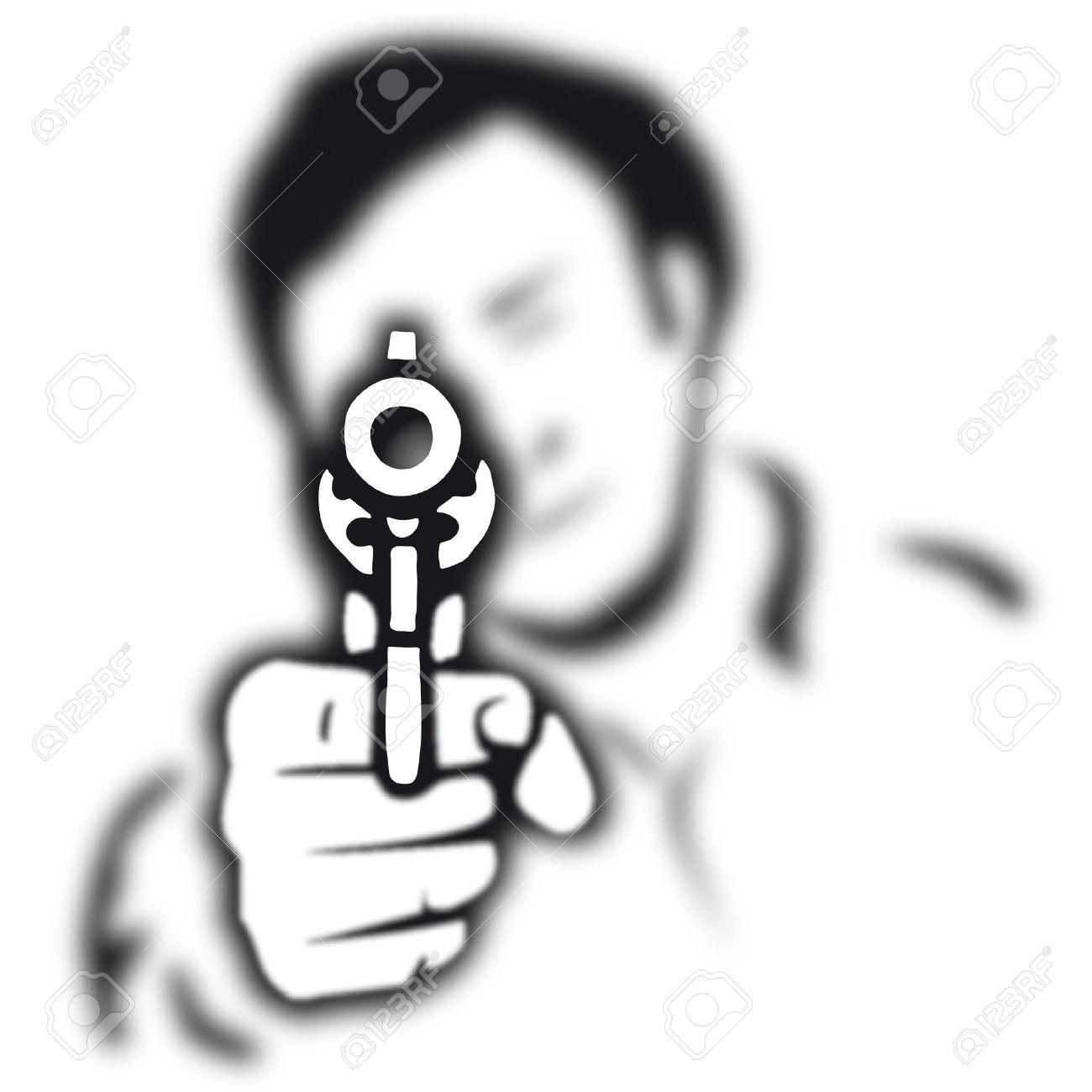 1300x1300 Pistol Clipart Crime