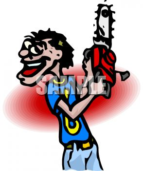294x350 Royalty Free Clip Art Image Chainsaw Wielding Murderer