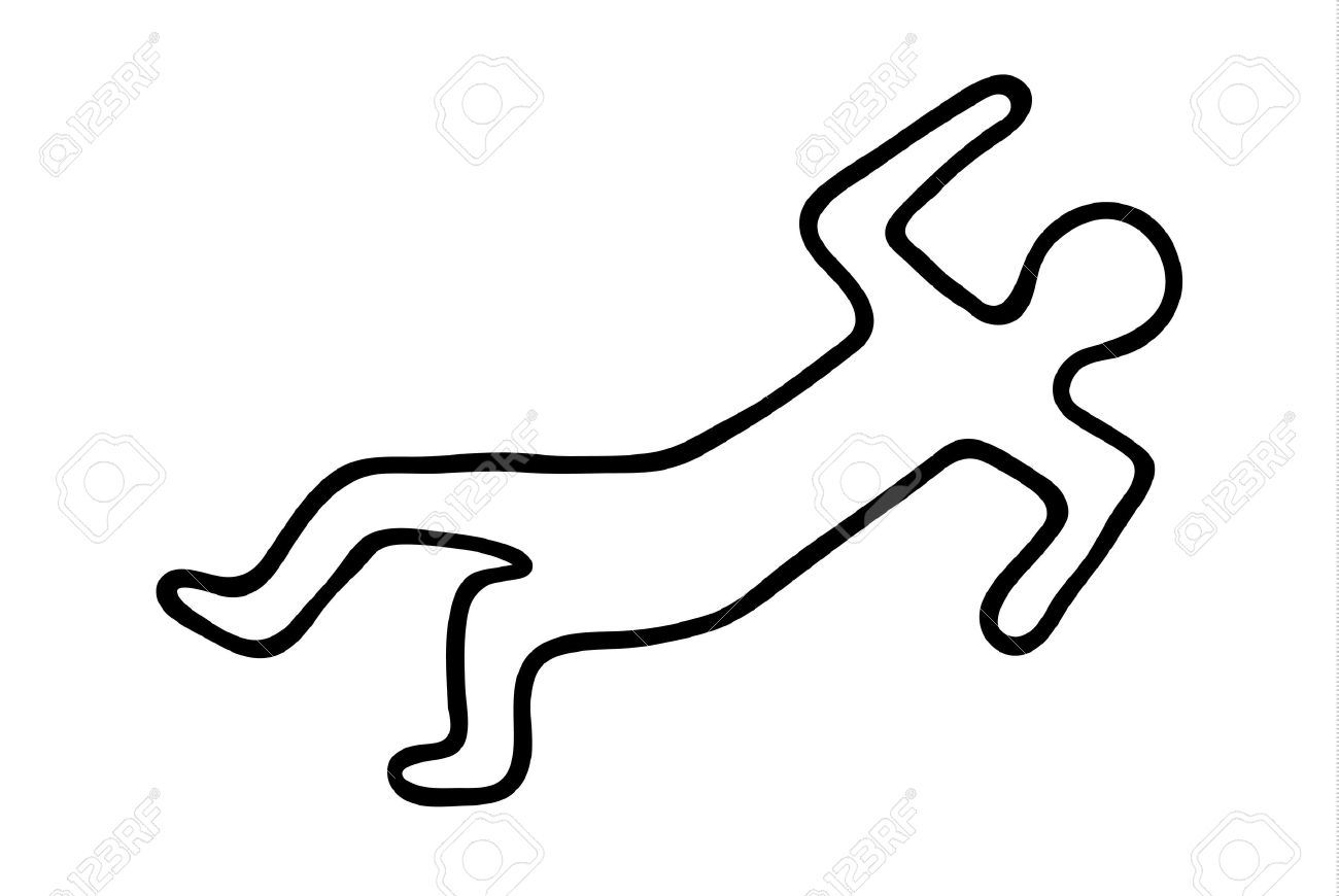 1300x870 Chalk Outline Of A Dead Body Royalty Free Cliparts, Vectors,