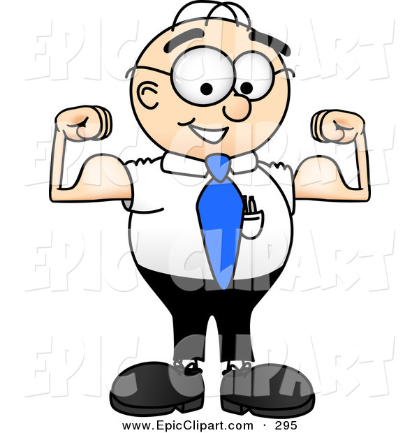 600x620 Muscle Man Clipart