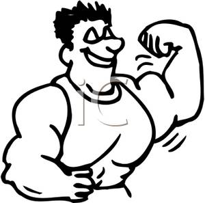 300x297 Muscle Man Clip Art Cliparts