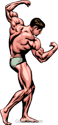 224x480 Muscle Man Royalty Free Vector Clip Art Illustration Peop0004