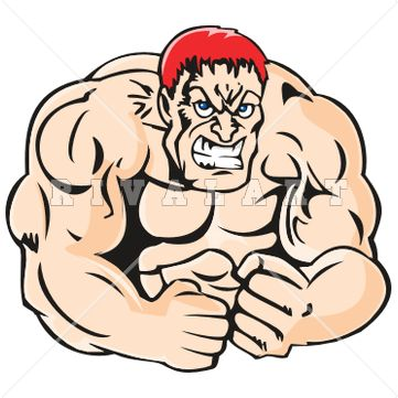 361x361 Sports Clipart Image Of Huge Man With Muscles Weightlifting