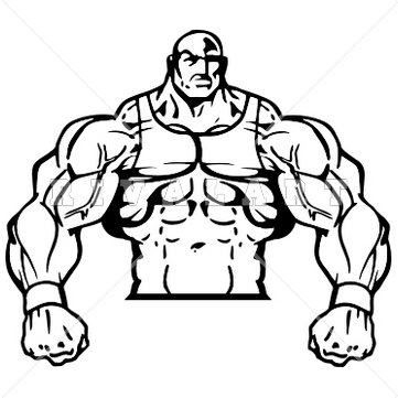 361x361 Amazing Muscle Man Clipart