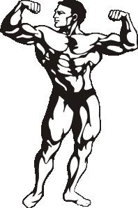198x299 Body Builder Clip Art