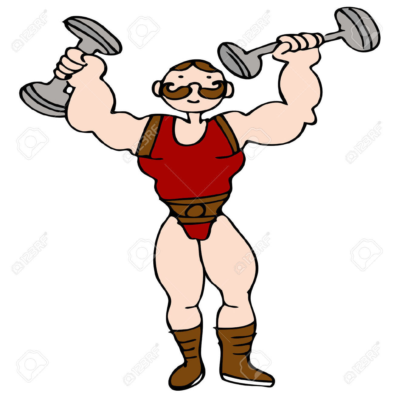 1300x1300 Carnival Muscle Man Clipart