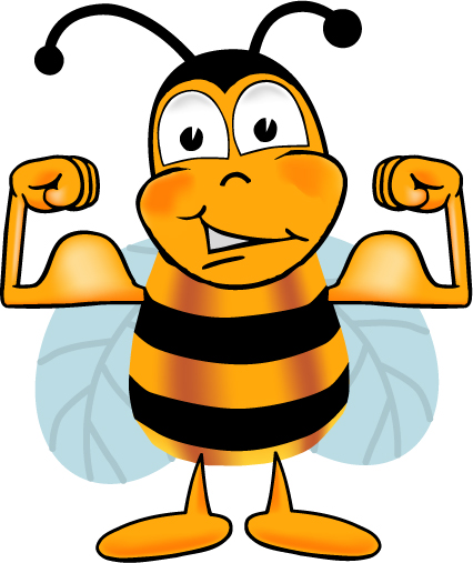 426x507 Bee Clipart Muscle