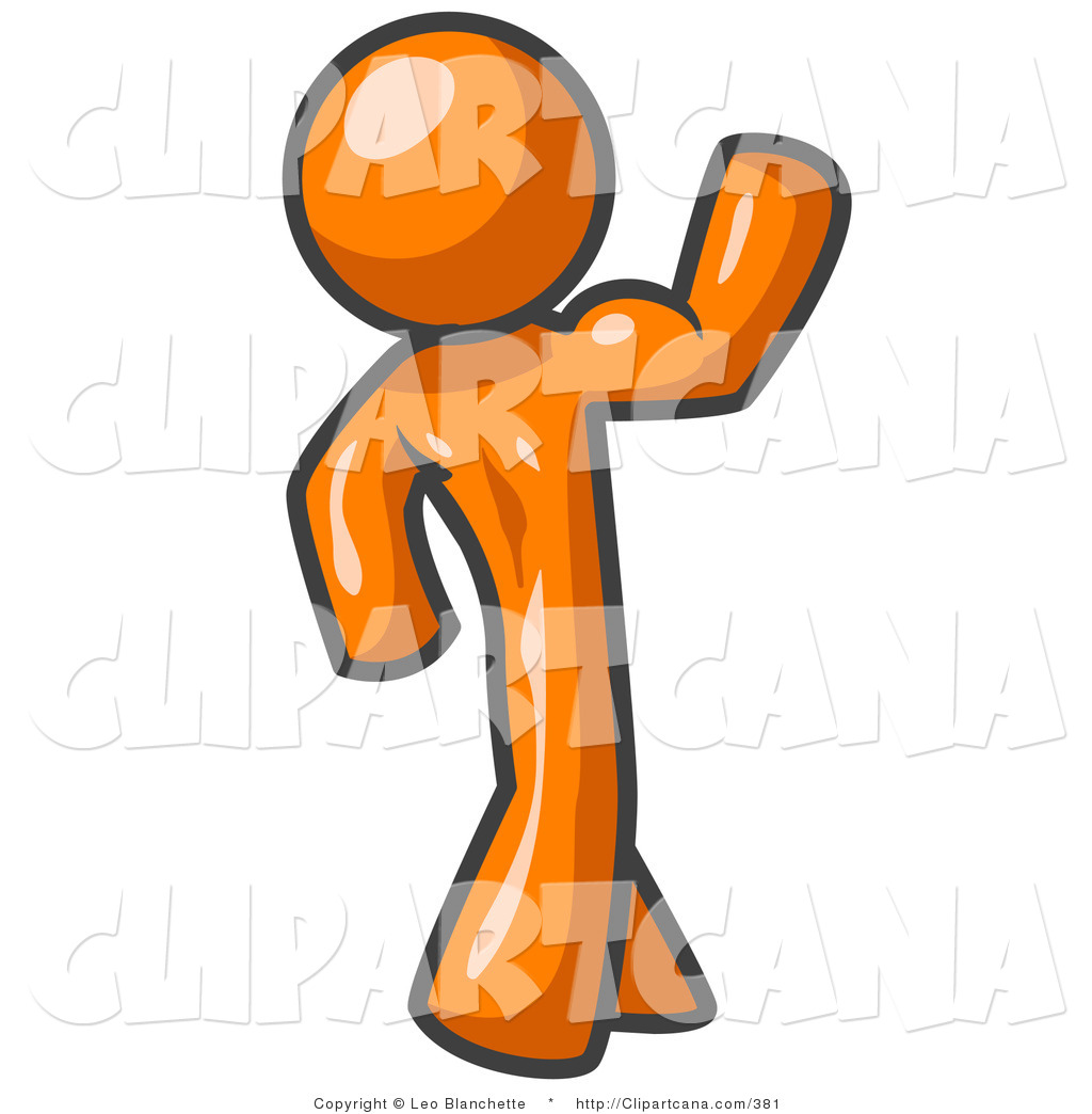 1024x1044 Vector Clip Art Of A Strong Orange Man Flexing His Muscles By Leo