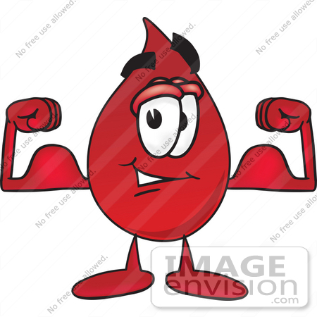 450x450 Clip Art Graphic Of A Transfusion Blood Droplet Mascot Cartoon