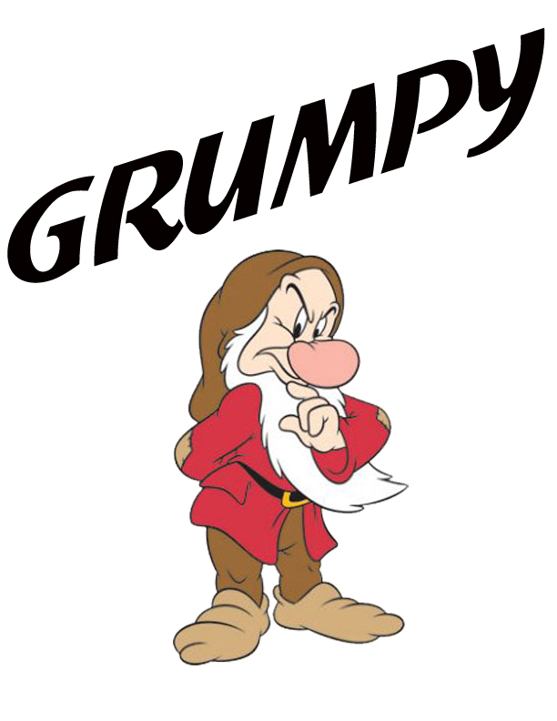 612x792 Grumpy Clipart