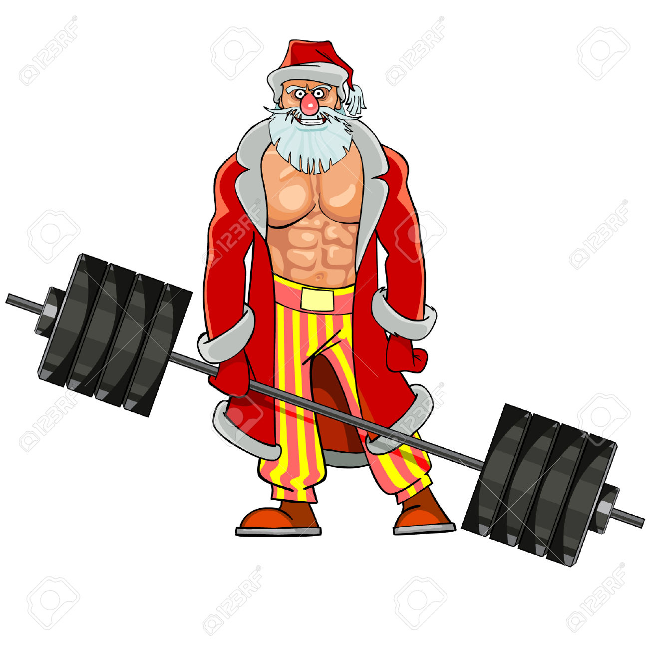 1300x1300 Santa Clipart Muscular