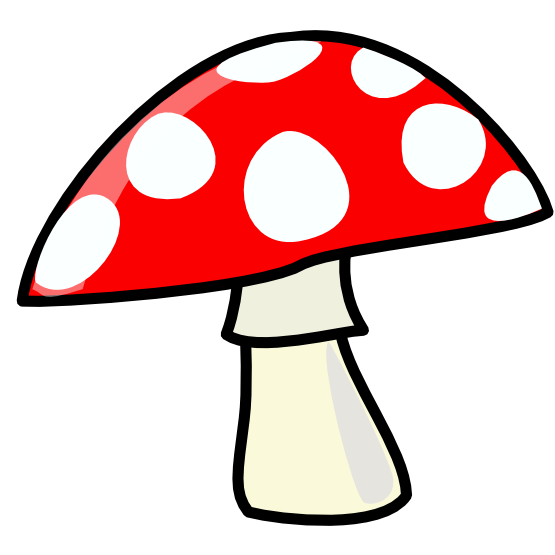 555x555 Free Cartoon Mushroom Clip Art
