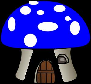 300x279 Mushroom In Blue Clip Art