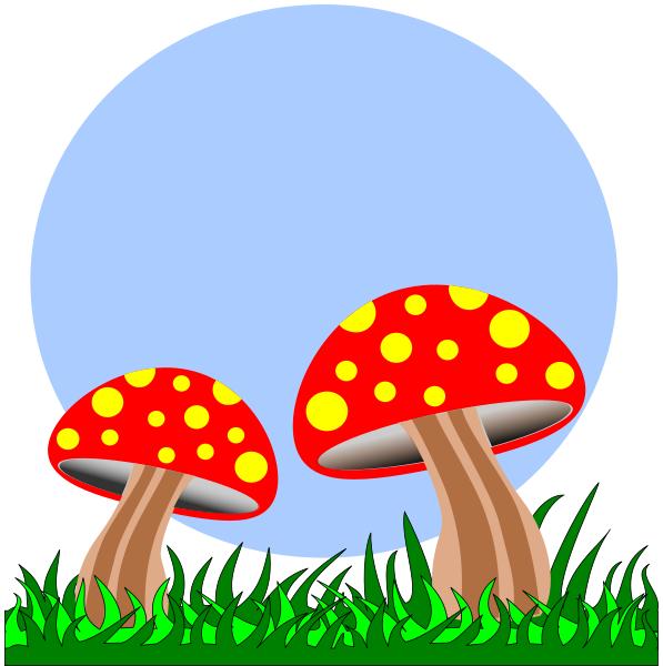 597x600 Mushroom Clipart Gress