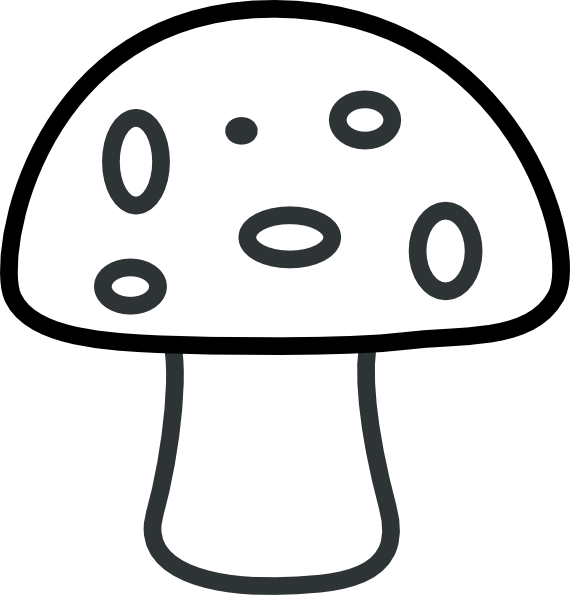 570x595 Black And White Mushroom Clip Art