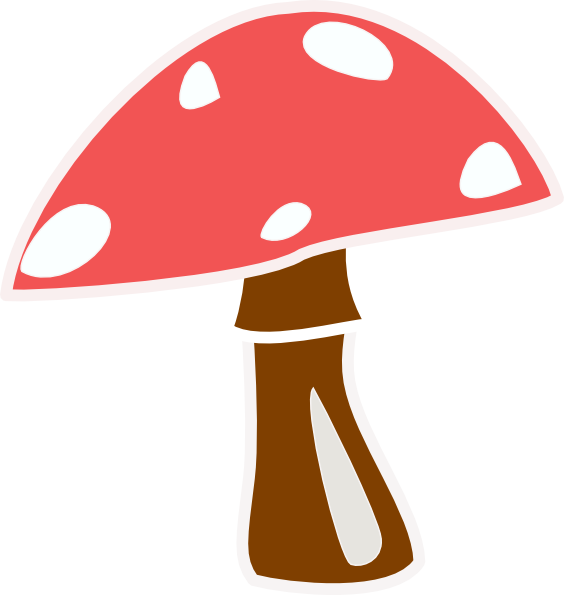 564x595 Red Top Mushroom No Letter Clip Art