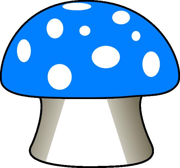 600x558 Blue Mushroom Clip Art