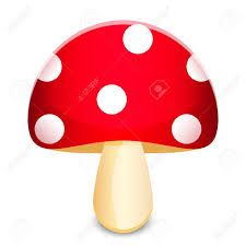 225x225 Red And Black Mushroom Clip Art