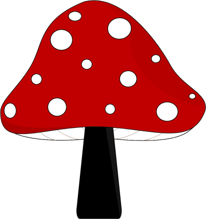 410x435 Red And Black Mushroom Clip Art