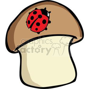 300x300 Royalty Free 2638 Royalty Free Ladybug On Mushroom 379949 vector