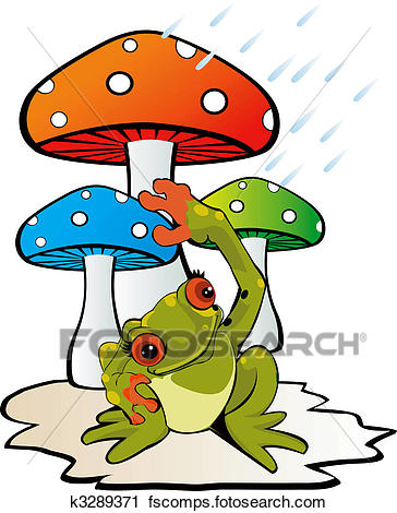 364x470 Clipart Of Mushroom And Toad K3289371