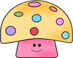 258x206 Colorful Mushroom Clip Art