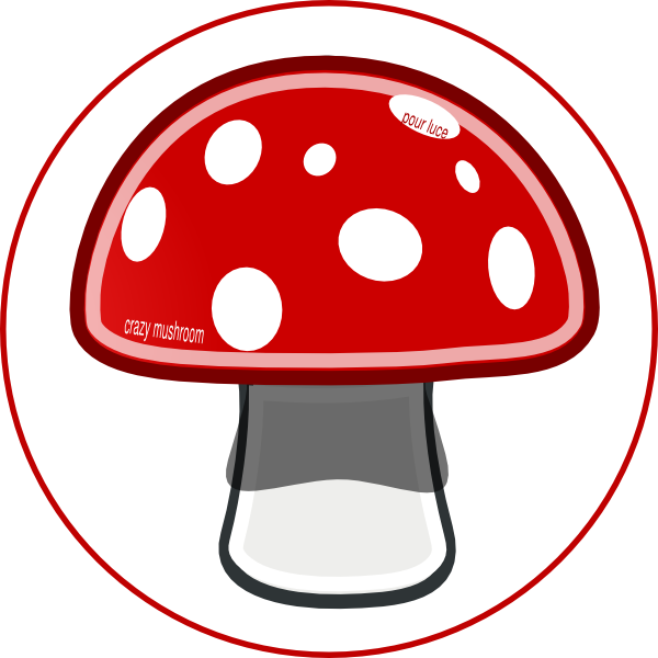 600x600 Crazy Mushroom Clip Art