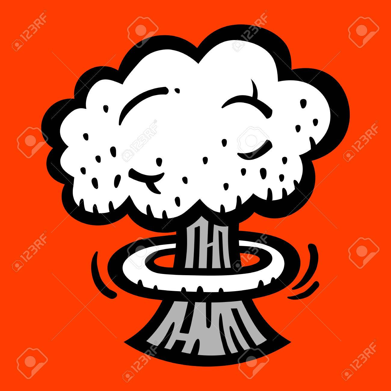 Mushroom Cloud Clipart