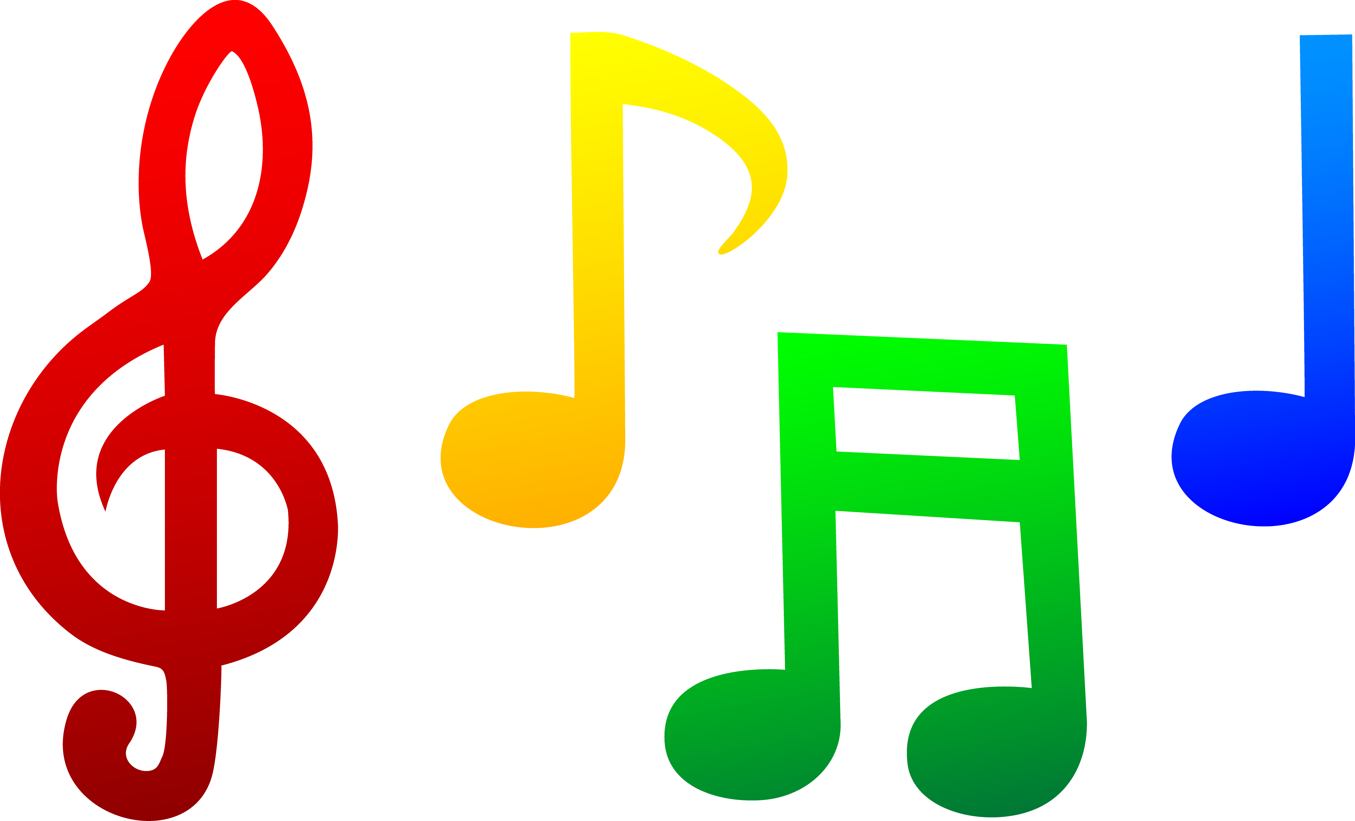 5366x3252 Colorful Musical Notes