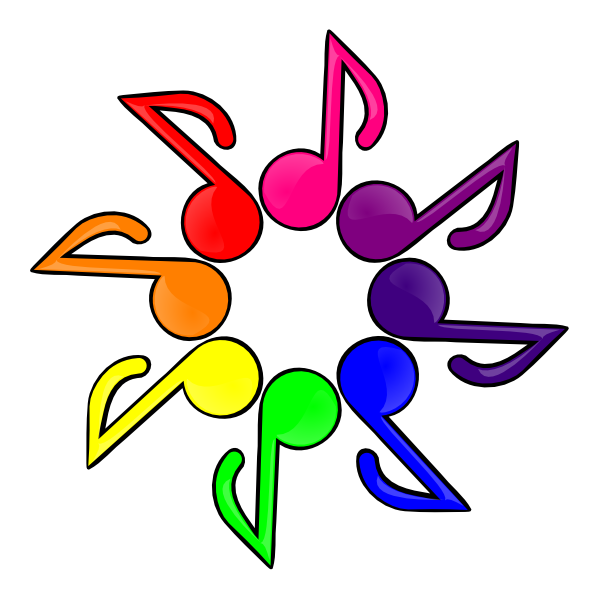 600x600 Music Color White Background Clip Art