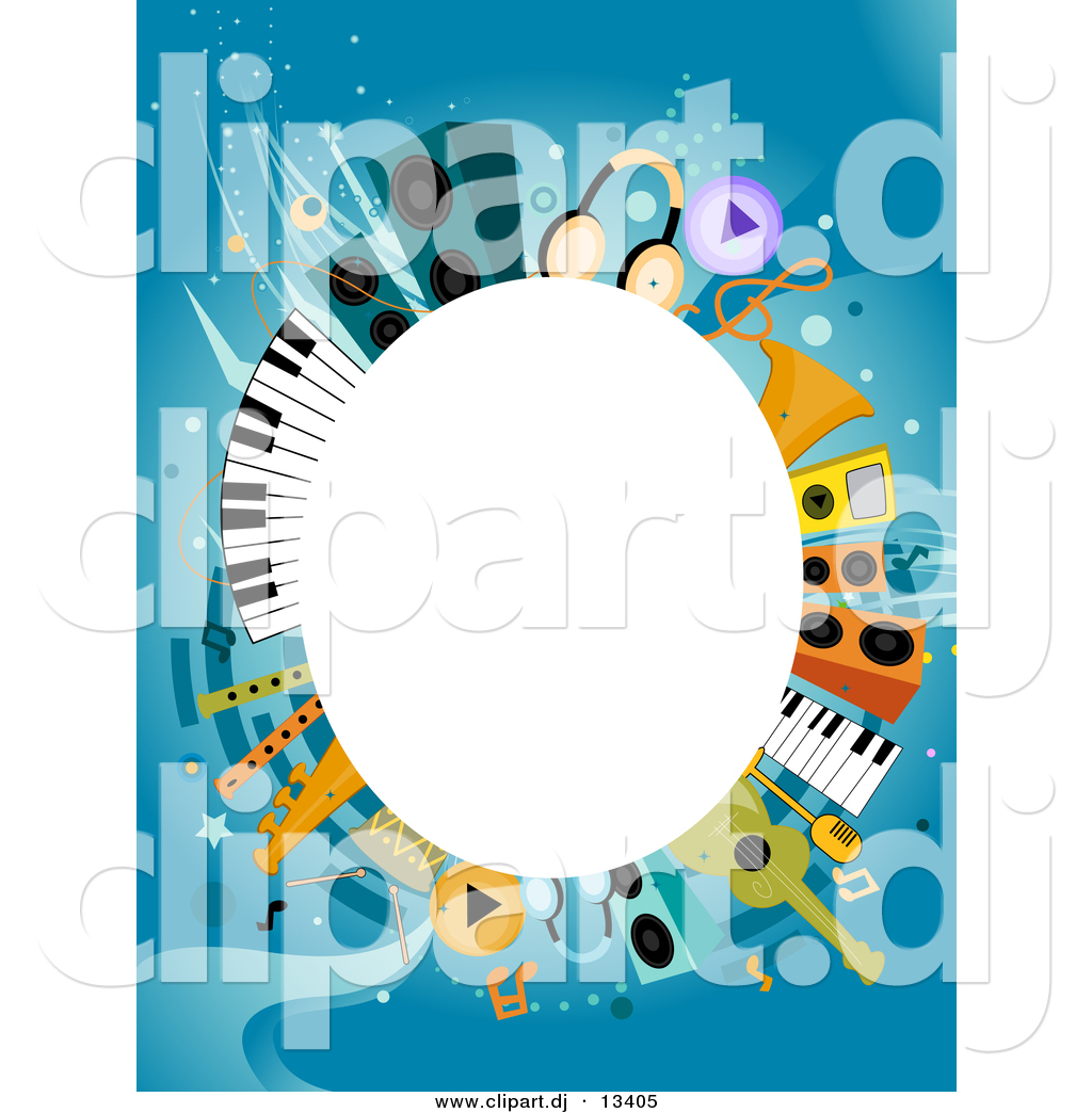 1024x1044 Vector Clipart Of A White Oval Copyspace Background Within Music