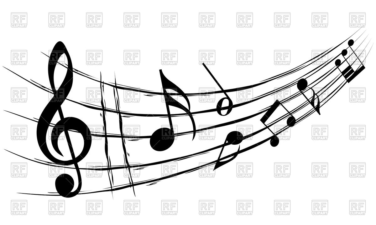 1200x720 Background Design With Musical Notes Royalty Free Vector Clip Art